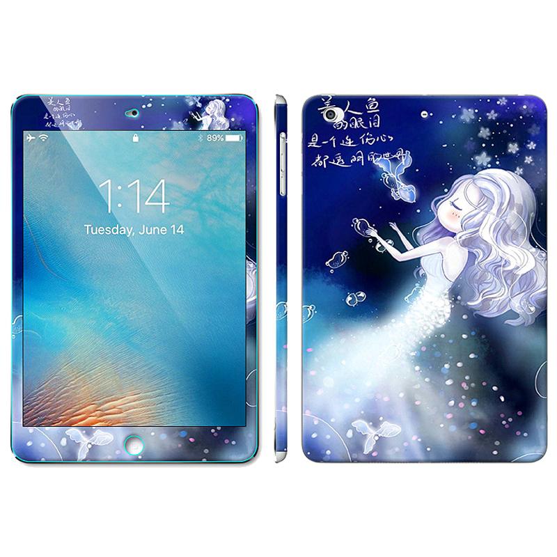 ipad mini4钢化膜全屏平板电脑迷你4手机高清卡通钢化彩膜可爱潮