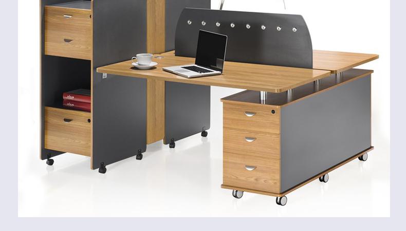 福州高端创业商业高箱办公桌休闲现代职员二人四人位电脑桌图片
