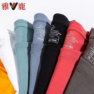雅鹿男士短袖t恤圆领宽松衣服夏季韩版纯棉大码半袖体恤男装潮流