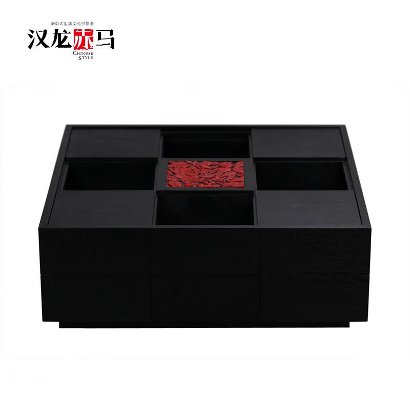 汉龙赤马现代中式茶几J016