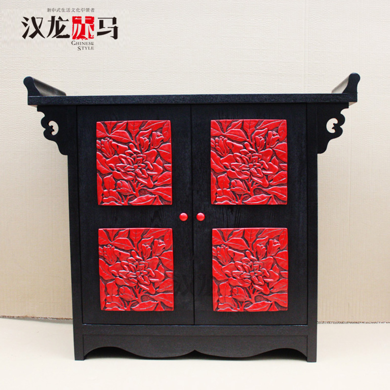 汉龙赤马明清中式门柜J095