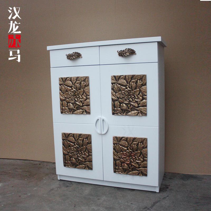 汉龙赤马现代中式双抽鞋柜J207
