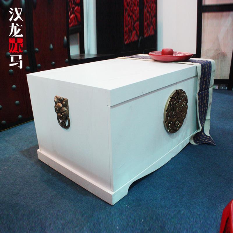 汉龙赤马木箱茶几