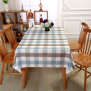 桌布布艺防水防烫防油免洗棉麻小清新餐桌桌布圆台布茶几布欧式风