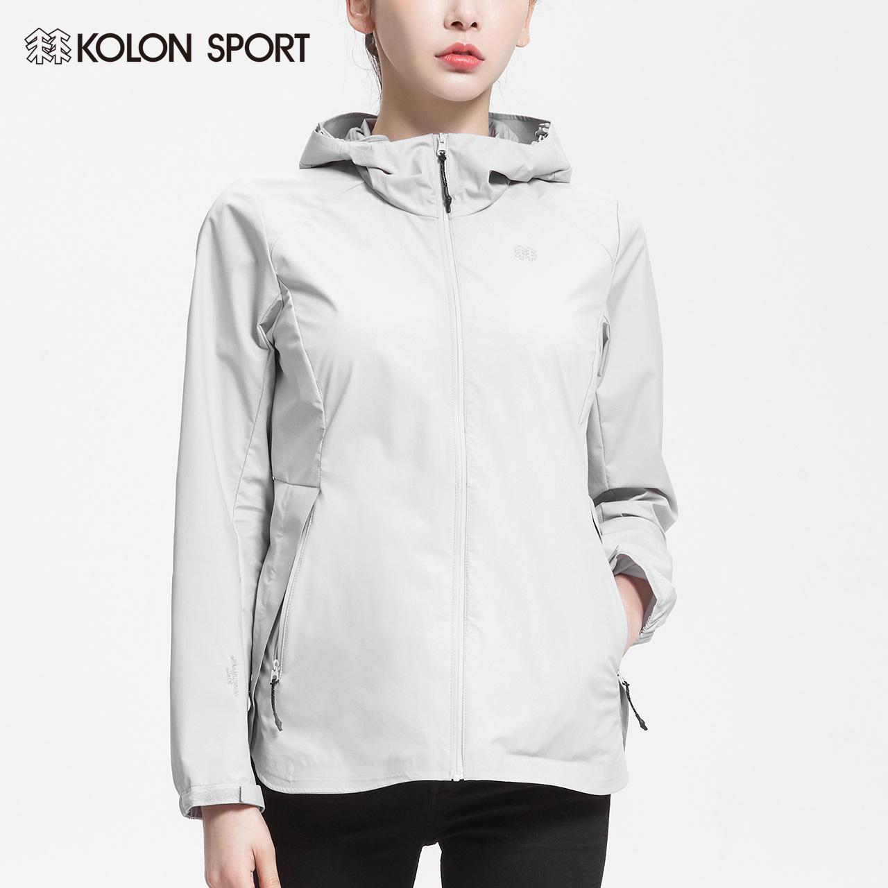 KOLONSPORT可隆女士潮牌冲锋衣 2018秋季新品防风防水透气冲锋衣