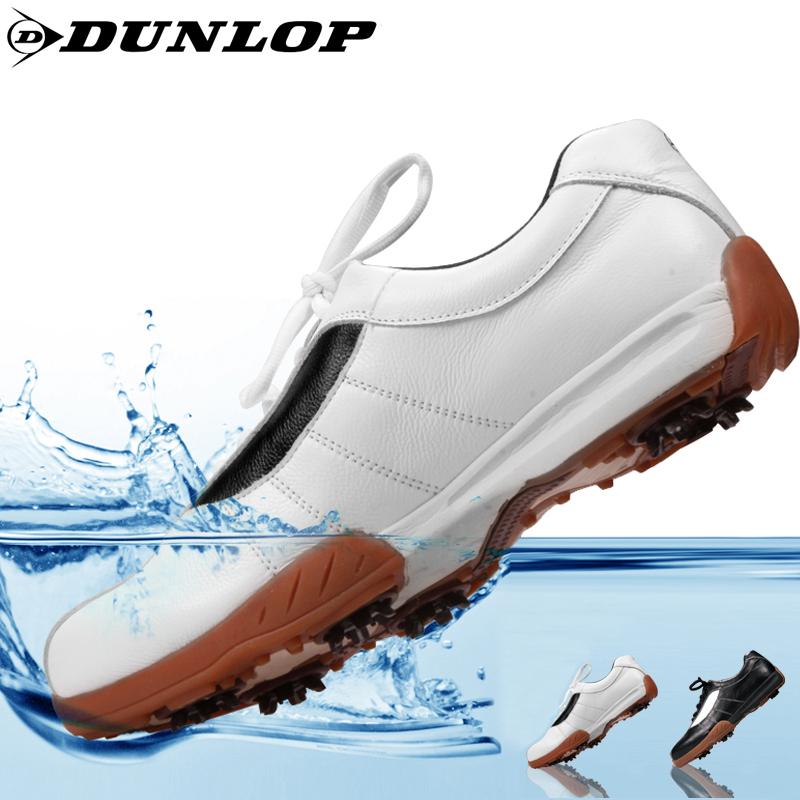 英国DUNLOP官方正品高尔夫球鞋男款牛皮golf透气耐磨高尔夫鞋子