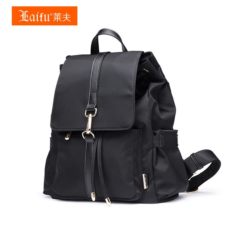 莱夫双肩包女韩版帆布包旅行背包女包潮百搭牛津布2018新款小包包