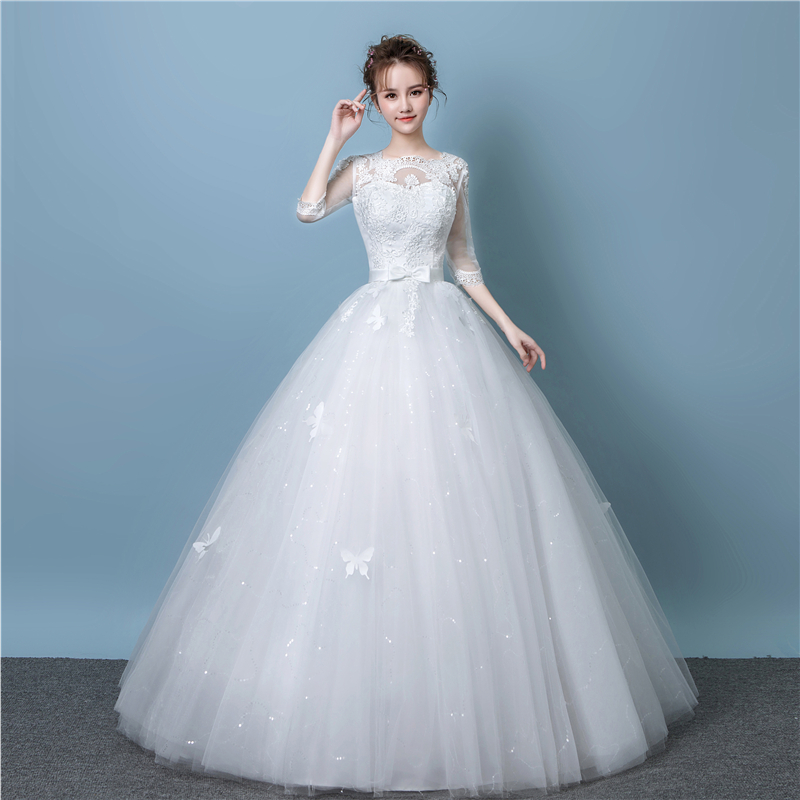 Light forest wedding dress 2018 new Korean pregnant women wedding ...