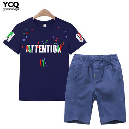 儿童夏装男童套装2018童装新款男孩短袖T恤中大童宝宝夏季两件套