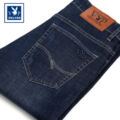 Playboy new trend jeans men's straight loose authentic stretch casual men's trousers thin section men's pants