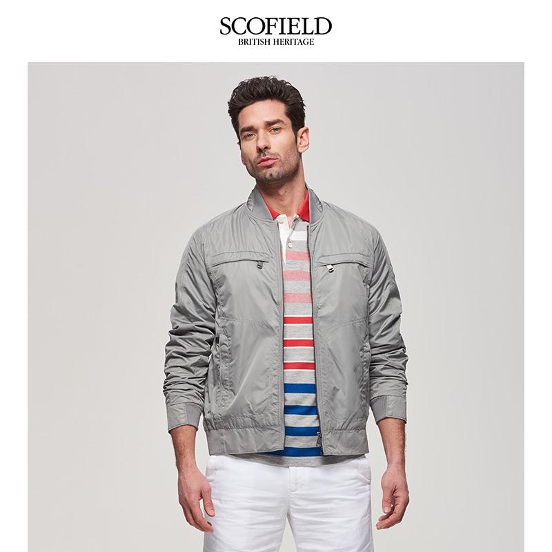 SCOFIELD秋季商务绅士时尚休闲潮流修身短外套夹克男JA622B01