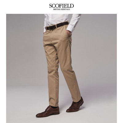 SCOFIELDSCOFIELD2018春季新品商务休闲男棉质裤直筒长裤男SMTC85C001