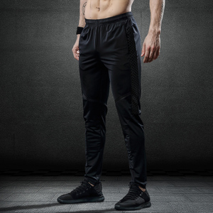 运动裤男加绒加厚高弹力秋冬健身长裤直筒休闲裤潮足球跑步训练裤