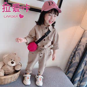 春装2019新款儿童潮两件套网红女童装洋气小童女宝宝春秋时髦套装