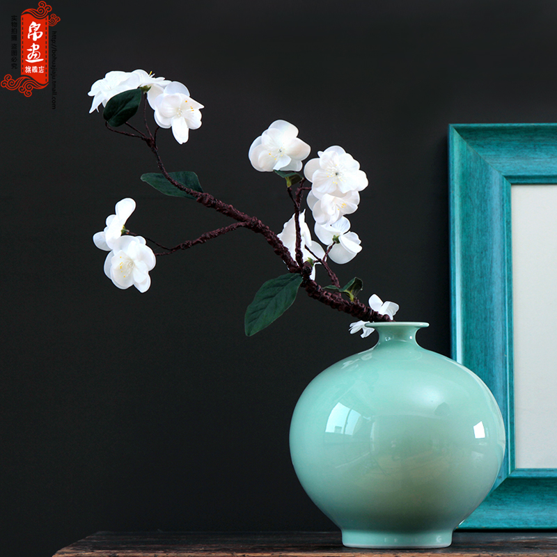 Jingdezhen furnishing articles flower arranging flowers floral modern Oriental floral empty inspiration shadow green hand flower hydroponics