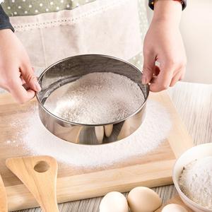 面粉筛 304不锈钢细面粉筛网 糖粉漏 60目中药筛子烘焙工具分样筛
