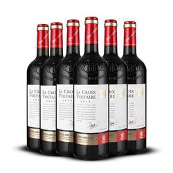 法国干红葡萄酒整箱 原瓶原装红酒整箱梅洛6支装美乐红酒宴客