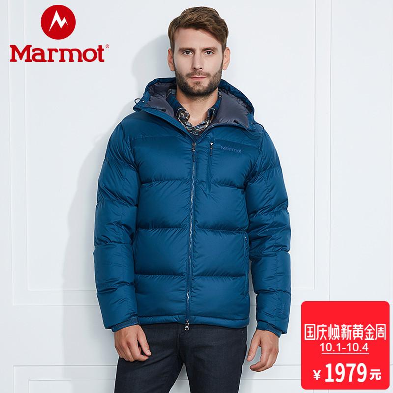 「18年款到货」marmot-土拨鼠男防风加厚拒水鹅绒保暖羽绒服73060