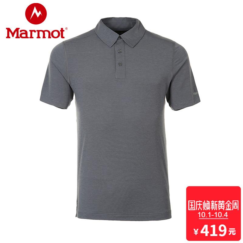 marmot-土拨鼠18春夏新款户外吸湿排汗男士短袖速干POLO衫S43520