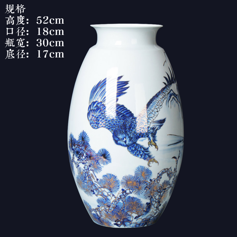 Jingdezhen ceramics vase high - grade paint all of the blue and white porcelain vases, sitting room of Chinese style household furnishing articles