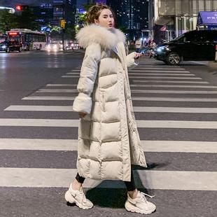 羽绒棉衣2019新款棉服女冬季韩版宽松中长款过膝外套oversize女潮