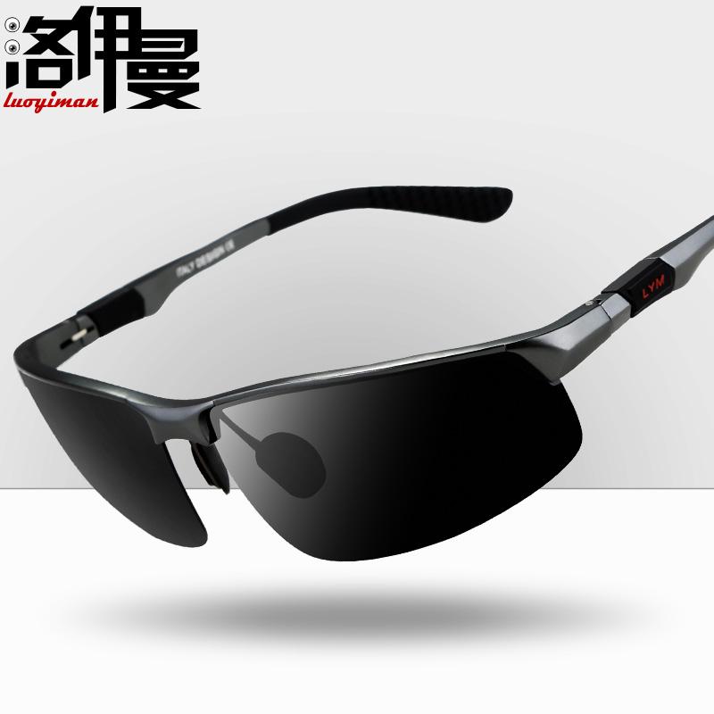 洛伊曼男士太阳镜运动款眼睛偏光开车墨镜司机驾驶镜潮人眼镜1601