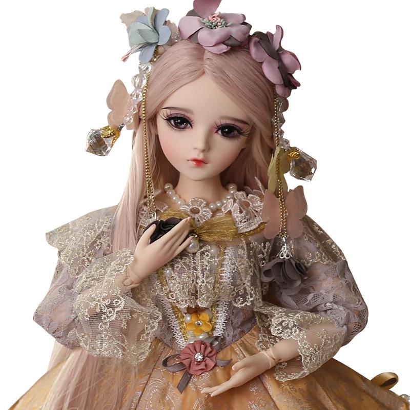 多丽丝纯手工改妆凯蒂娃娃BJDSD三分娃仿真洋娃娃换装公主玩具礼