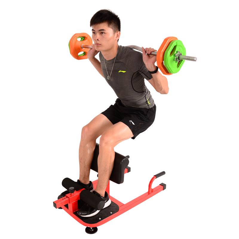深蹲架姑娘翘臀健身器材仰卧卷腹腿部训练器家用臀部私教勾腿机