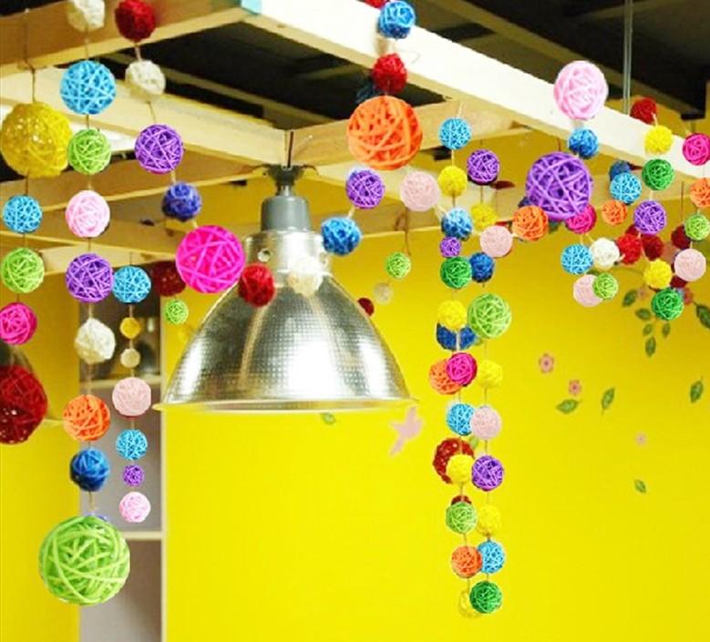 幼儿园吊饰空中挂饰创意元旦装饰藤走廊学校教室吊顶环境布置包邮