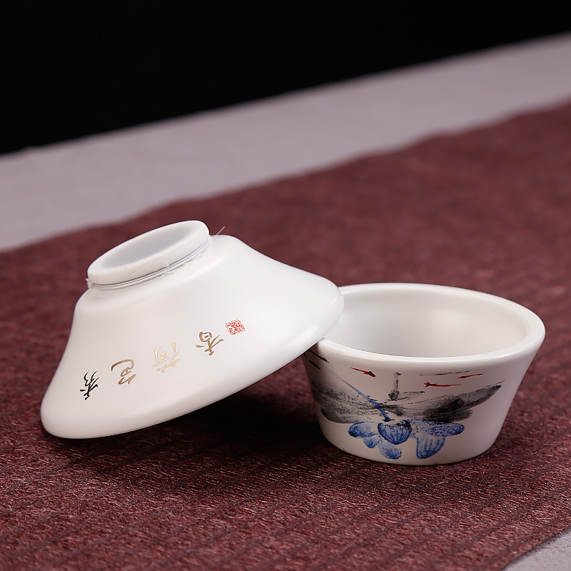 Up with catch tea strainer ceramic creative move kung fu tea tea accessories tools home tea with zero