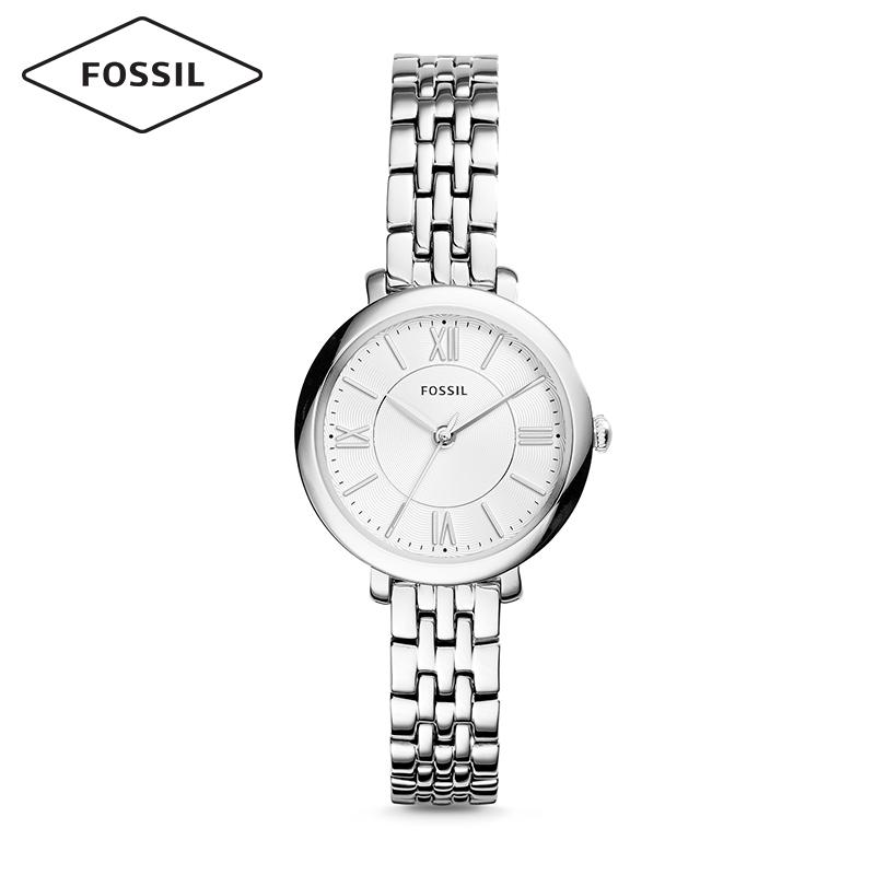 Fossil女表欧美简约风小表盘钢表带玫瑰金石英手表女ES3797