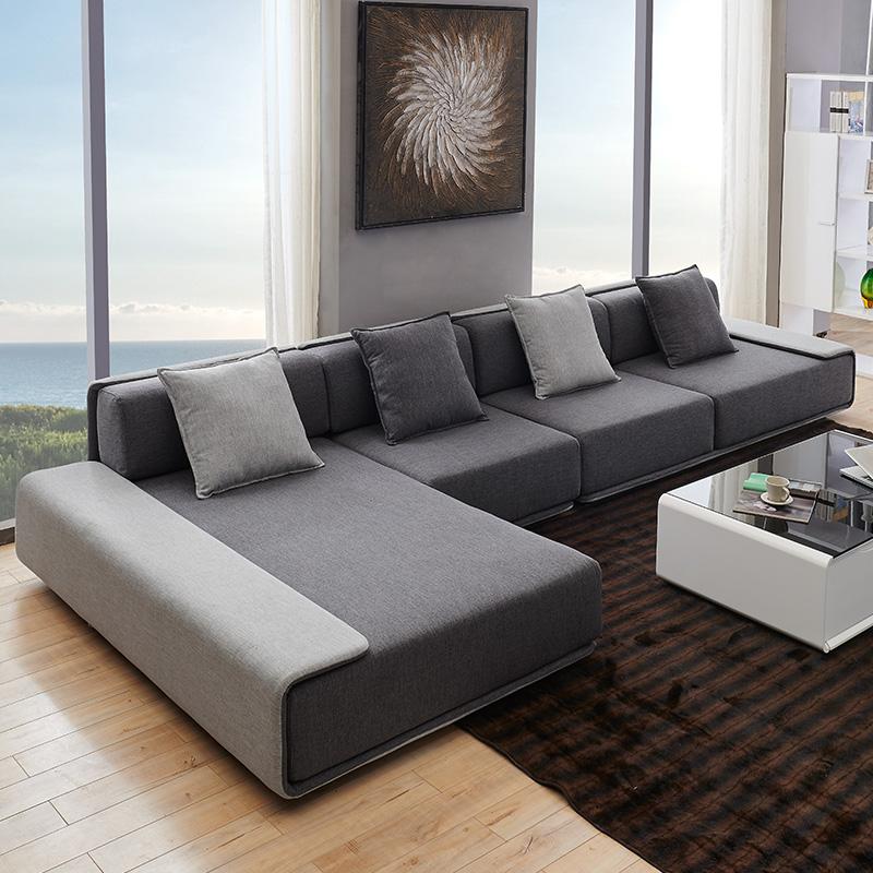简约现代大小户型布艺衣沙发可拆洗北欧客厅组合家具整装转角贵妃