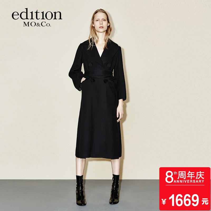 edition羊毛呢大衣秋睡袍系带中长EA1632OVC01moco