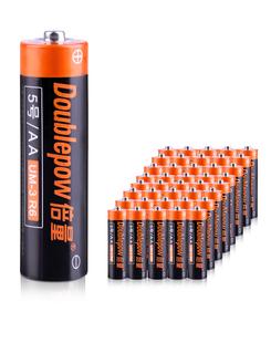 倍量5号电池碳性电池40节遥控器钟表正品AA电池1.5V五号电池儿童玩具挂钟电视原装一次性普通干电池