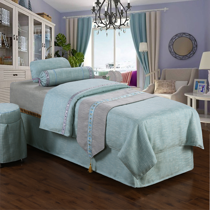 High Grade Linen Beauty Bed Cover Four Sets Of Massage Bed Cover Single  Beauty Bed Cover Gray Physiotherapy Bed Cover Can Be Customized