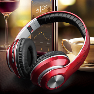 无线蓝牙耳机头戴式手机电脑通用耳麦音乐运动吃鸡插卡游戏男女生韩版可爱潮酷小米苹果跑步重低音全包耳降噪