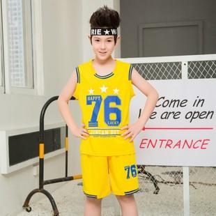 童装篮球服男童运动套装夏季2018胖男童背心短裤加肥加大套装潮