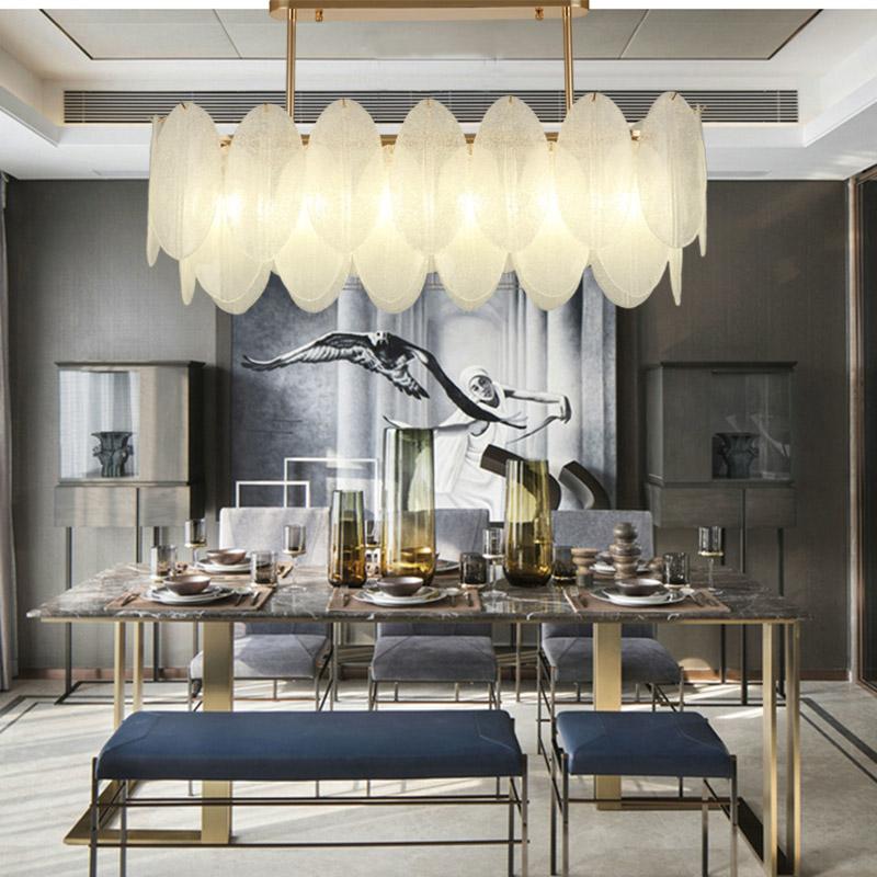 后现代吊灯餐厅创意轻奢时尚大气简约玻璃北欧艺术样板间新款灯具