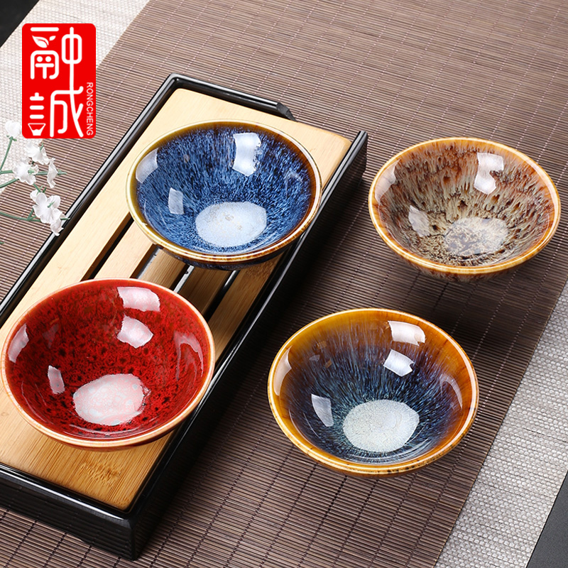 Ceramic cups built a single variable masters cup lamp perfectly playable cup home of kung fu tea tea set large sample tea cup