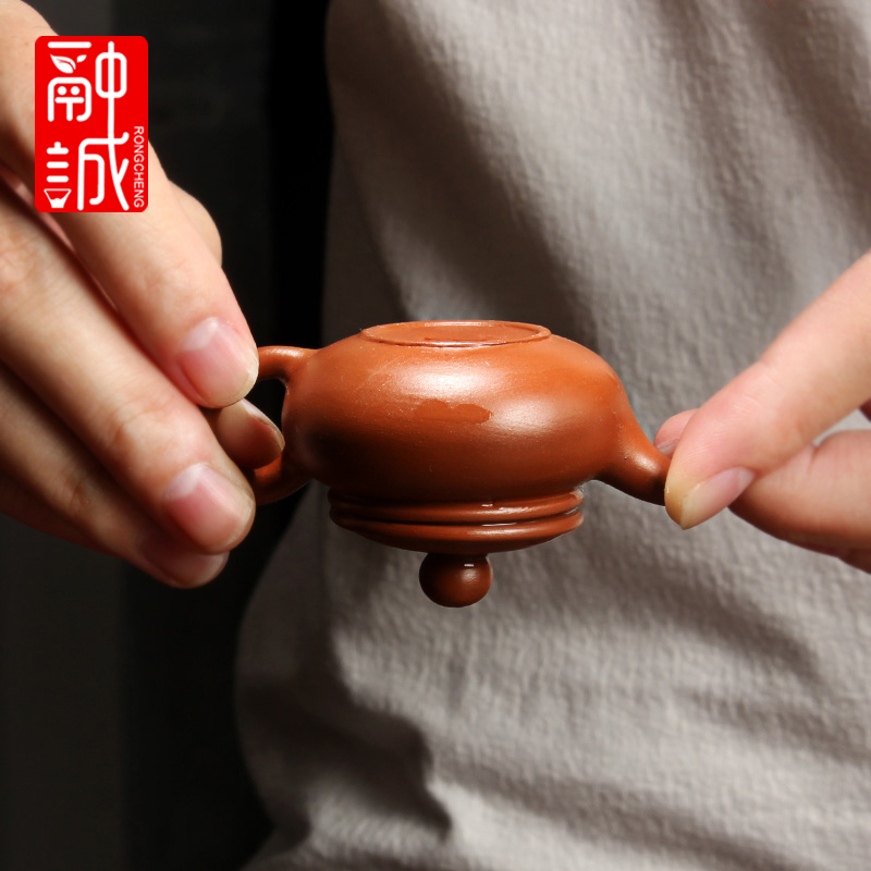 Melting seng yixing purple sand tea pet little teapot pocket mini tea pot of household accessories tea play water furnishing articles