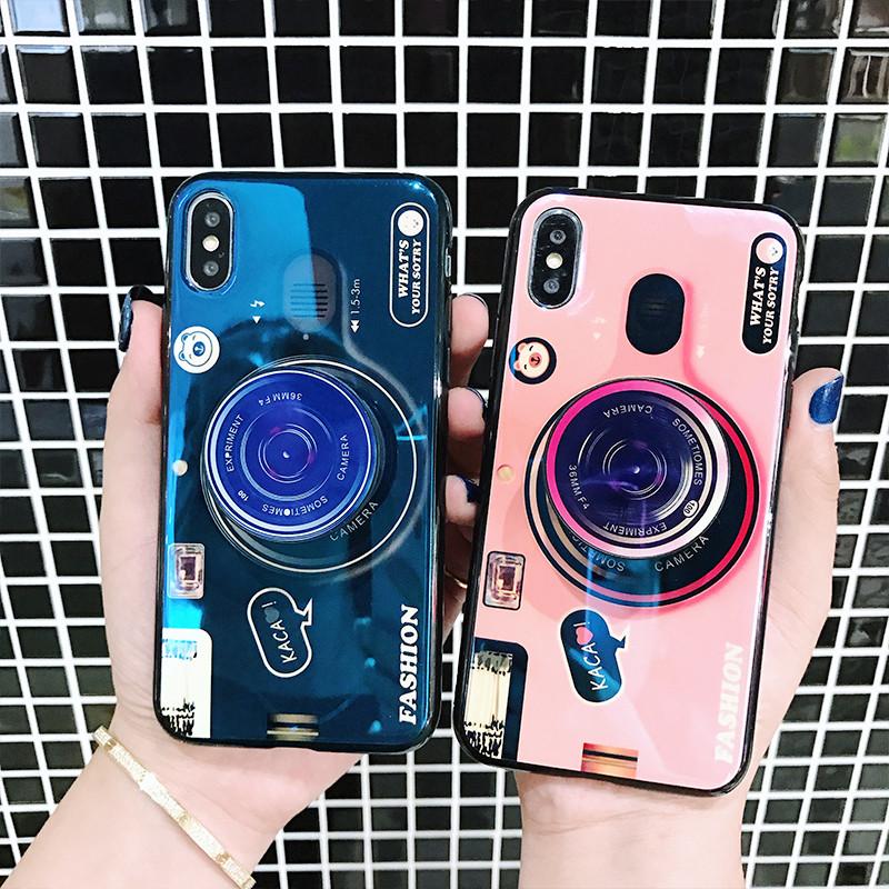 苹果7plus手机壳iPhonex-XR-XS MAX硅胶套6s软壳七潮牌男情侣蓝光相机7p女款7全包防摔ins网红同款个性创意8p