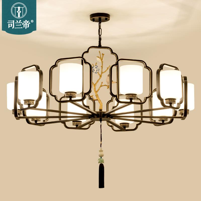 新中式吊灯 中国风大气客厅灯具创意个性铁艺吊灯led卧室书房灯饰