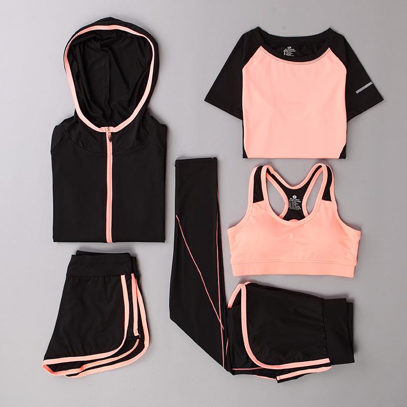 2018秋冬网红新款瑜伽服运动套装女速干健身房户外晨跑步专业衣服