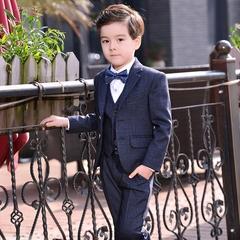 男童西装套装儿童钢琴演出小孩三件套男孩小西服韩版花童礼服外套