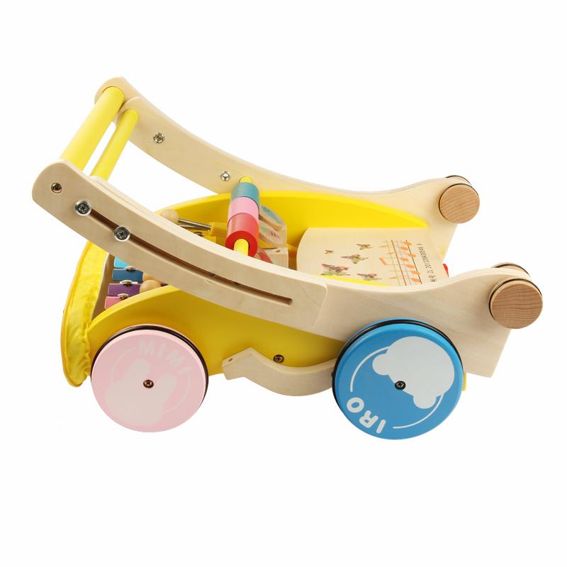 宝宝学步车手推车一岁儿童玩具木质小孩学走路婴儿学步推车助步车