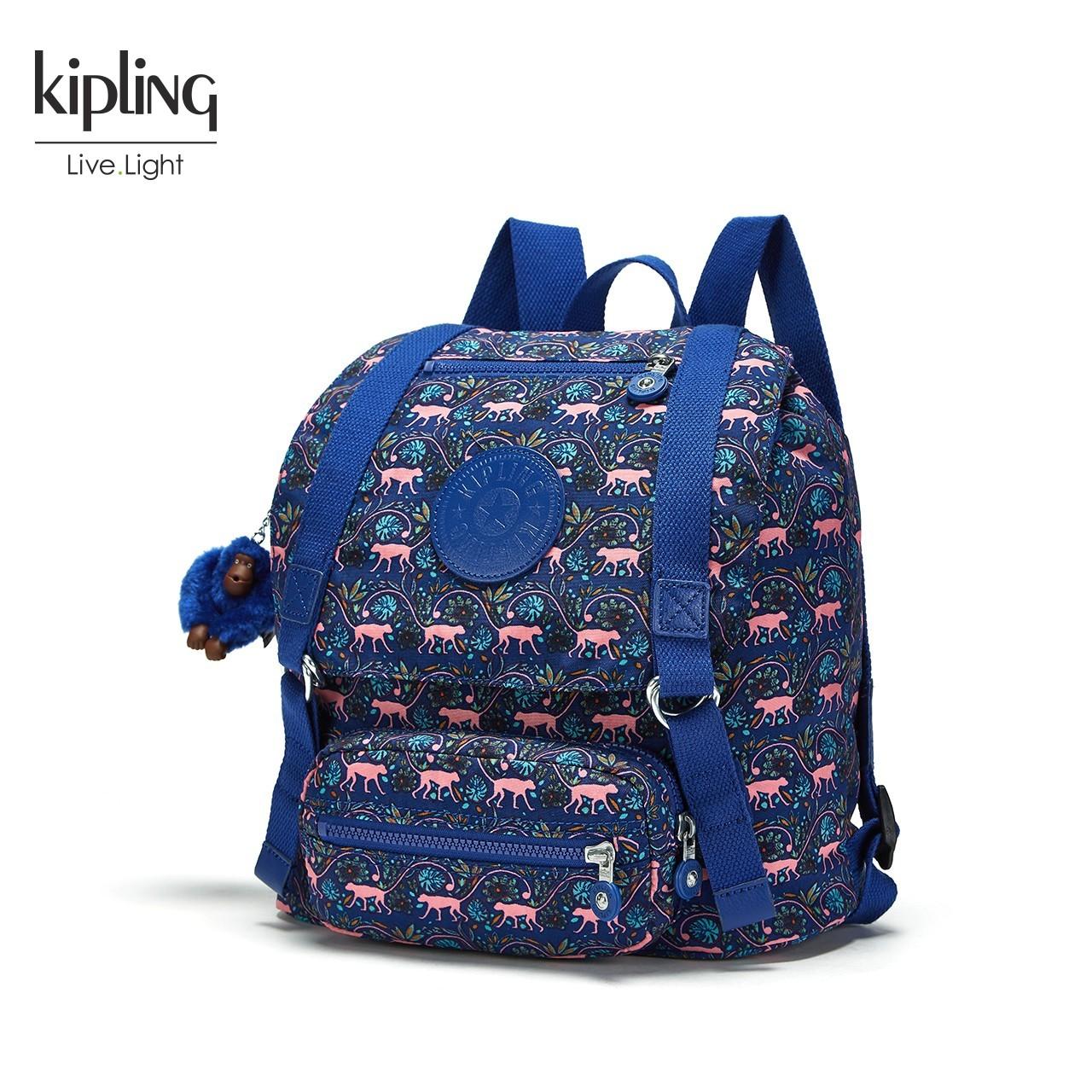 Kipling凯浦林官网包包女2018新款双肩包印花休闲潮款背包