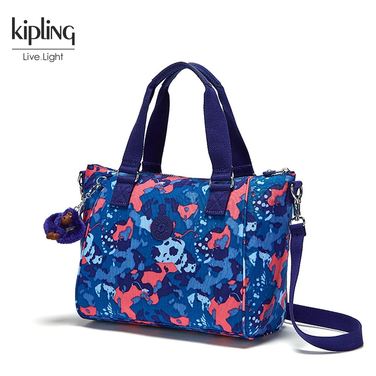 Kipling凯浦林官网新款休闲女包K15371时尚印花轻便单肩斜挎包