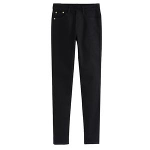 打底裤女外穿秋冬季2017新款保暖铅笔小脚高腰黑色女裤子加绒加厚
