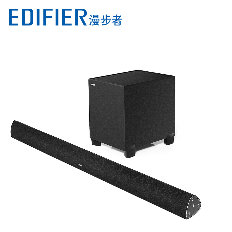 Edifier-漫步者 B7电视音响回音壁音箱5.1家庭影院客厅家用蓝牙机3D环绕长条形soundber挂墙壁式套装低音炮