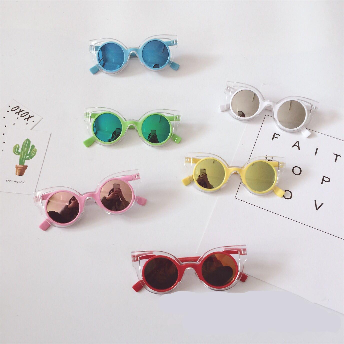 可爱夏款儿童男女童宝宝沙滩度假镜面凹造型防晒太阳眼镜墨镜